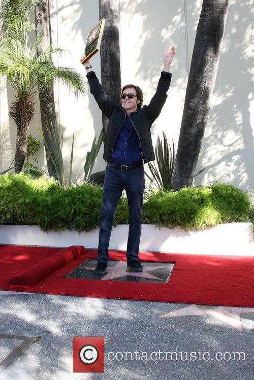 Sir Paul McCartney and Star On The Hollywood Walk Of Fame 30