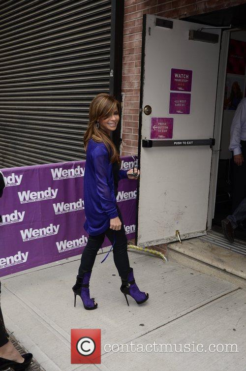 Arrives to the Wendy Williams show in Manhattan