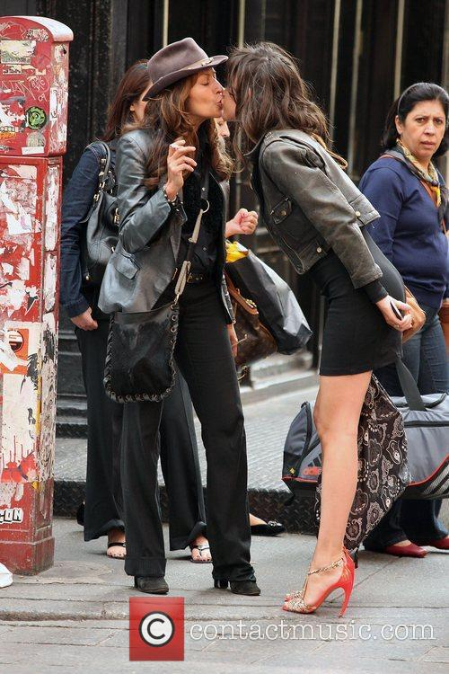 Paz de la Huerta out and about in...