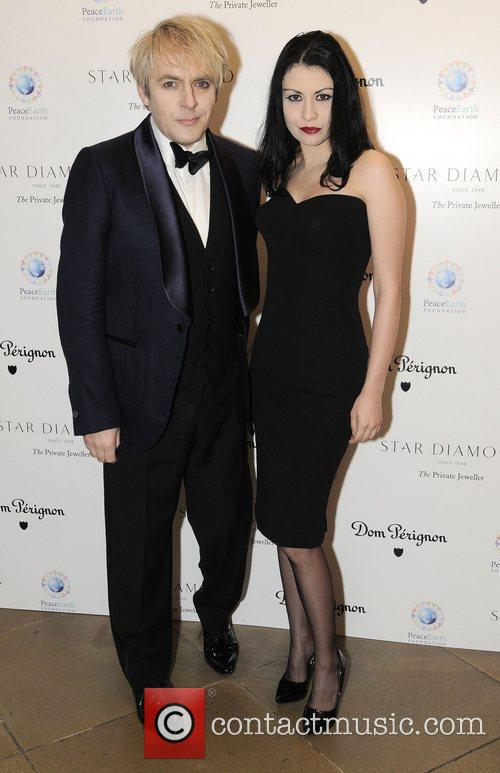 Nick Rhodes and Guest Place For Peace dinner...