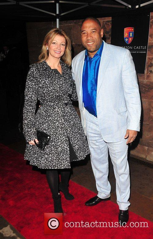 At the relaunch of Peckforton Castle after a...