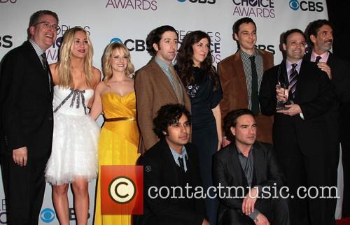 Cast, The Big Bang Theory, Kaley Cuoco, Kunal Nayyar, Melissa Rauch, Simon Helberg, Mayam Bialik, Jim Parsons, Johnny Galecki and Annual People's Choice Awards 3