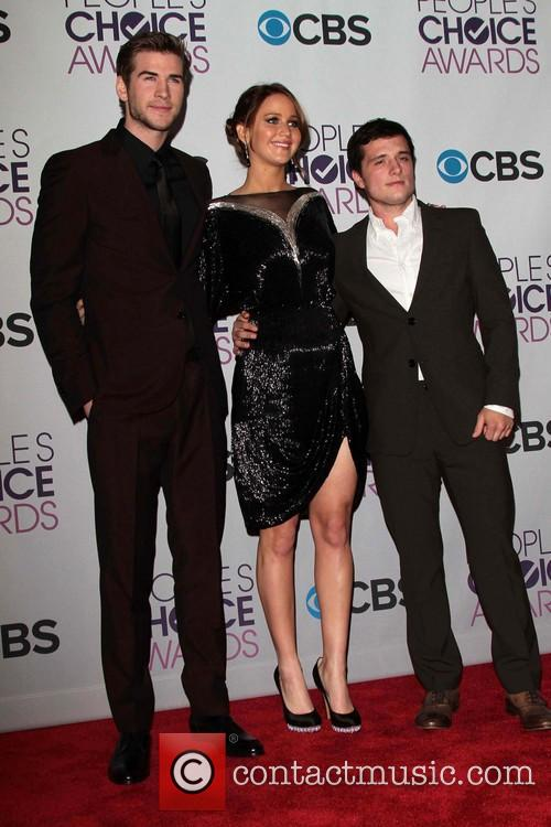 Liam Hemsworth, Jennifer Lawrence, Josh Hutcherson and Annual People's Choice Awards 1