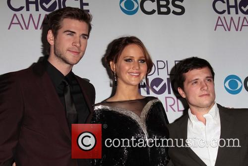 Liam Hemsworth, Jennifer Lawrence, Josh Hutcherson, Annual People's Choice Awards