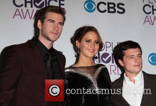 Liam Hemsworth, Jennifer Lawrence, Josh Hutcherson and Annual People's Choice Awards 5