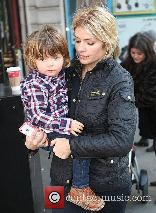 Holly Willoughby with her son Harry Celebrity Gala...
