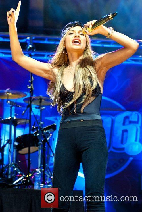 Havana Brown B96 Pepsi Summerbash held at Toyota...