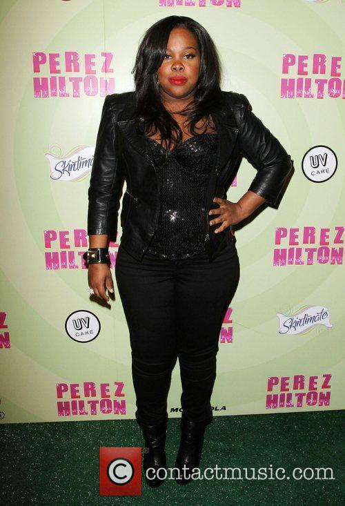 Amber Riley Perez Hilton's Mad Hatter Tea Party...