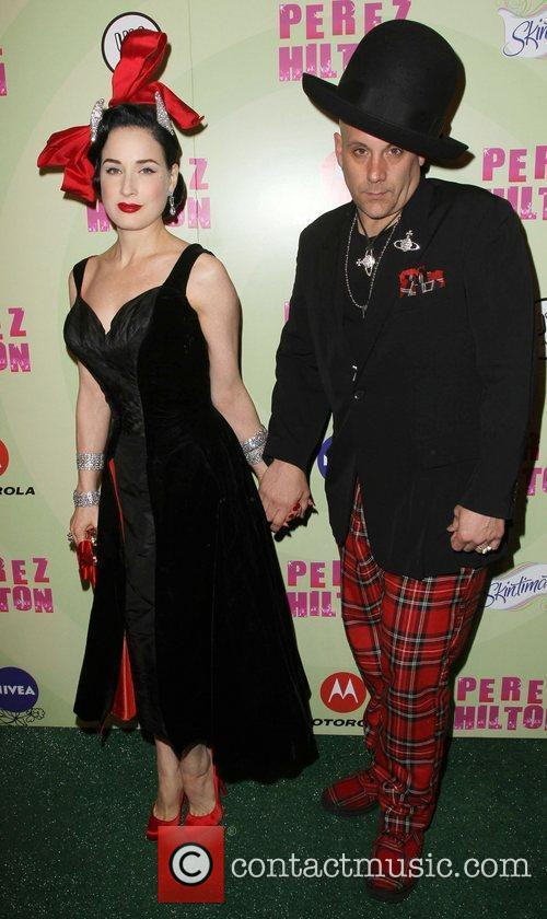 Dita Von Teese and Guest Perez Hilton's Mad...