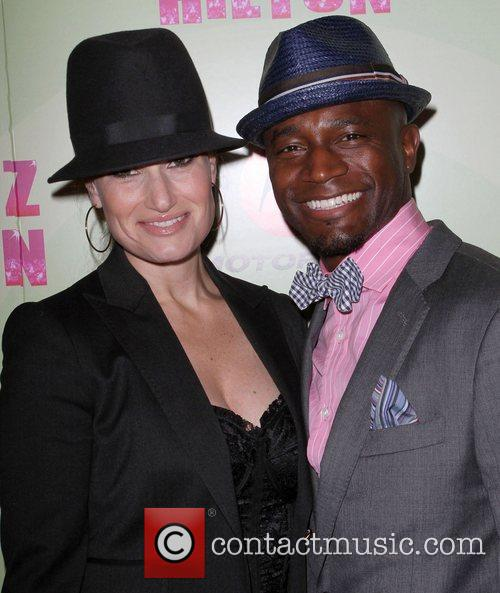 Taye Diggs and his wife Idina Menzel Perez...