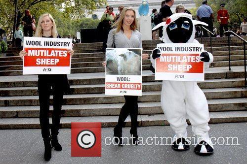 Atmosphere PETA members protest at Bryant Park against...