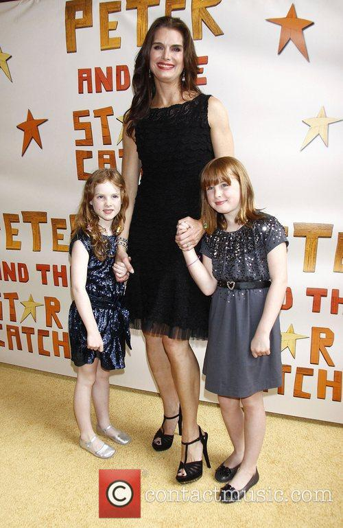 Brooke Shields with her daughters Grier Henchy and...