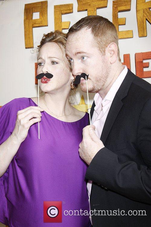 Katie Finneran and Darren Goldstein  Broadway opening...