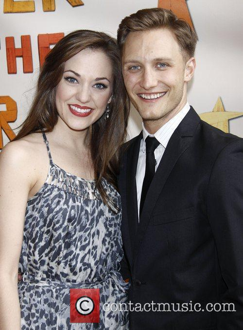 Laura Osnes and Nathan Johnson  Broadway opening...