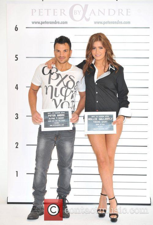 Is launching his new menswear collection Peter Andre's...
