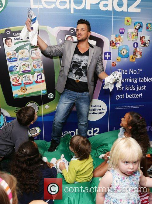 Peter Andre launches LeapFrog's new LeapPad2 and LeapstarGS...