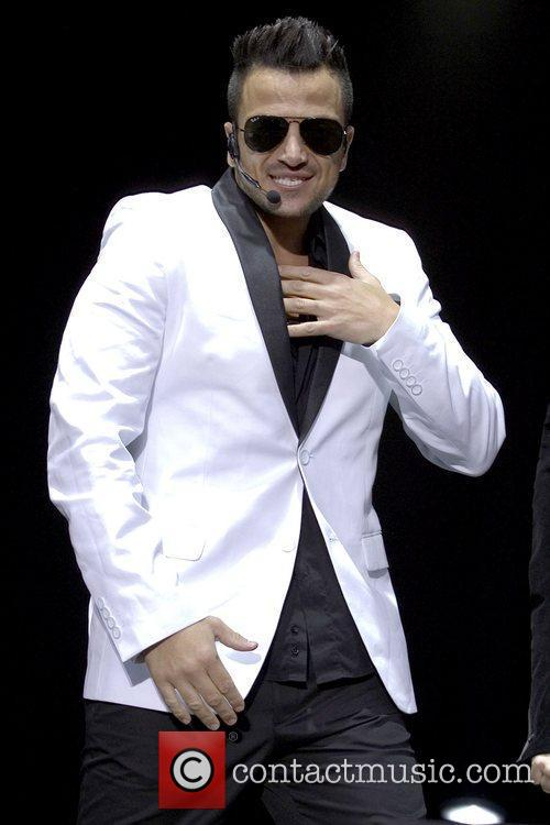 Peter Andre performing live at Hamilton Park Racecourse...