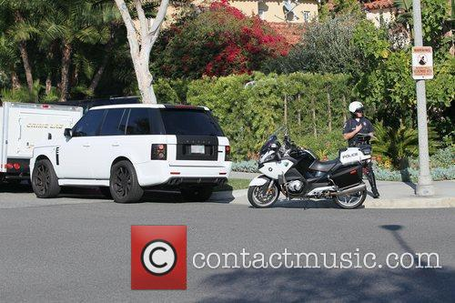 Petra Ecclestone's customized Range Rover was pulled over...