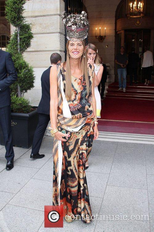 Anna Dello Russo Celebrities depart The Ritz Hotel...