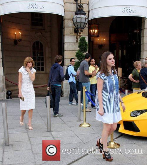 Anna Wintour and Bee Shaffer Celebrities depart The...