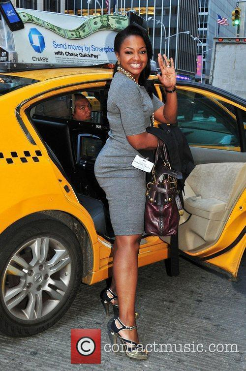 Phaedra Parks leaves NBC Studios by taxi New...
