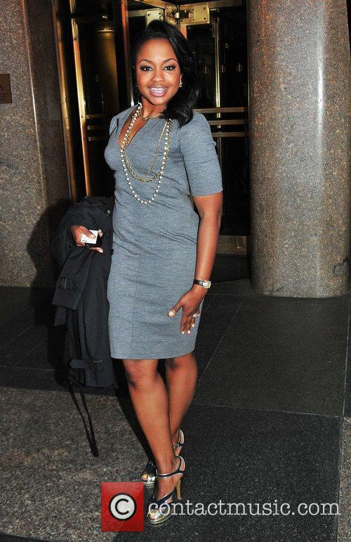 Phaedra Parks leaves NBC Studios by taxi
