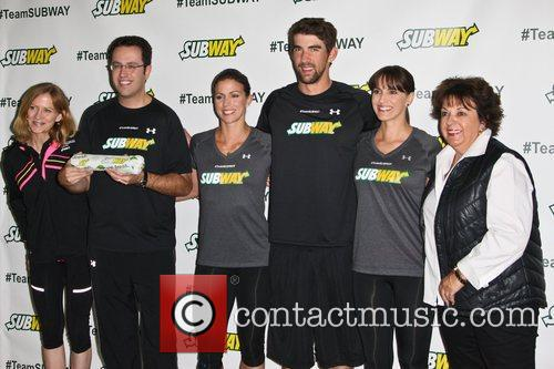 Subway 'run and swim training session' photocall held...