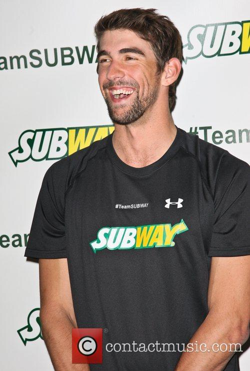 Subway 'run and swim training session' photocall held...