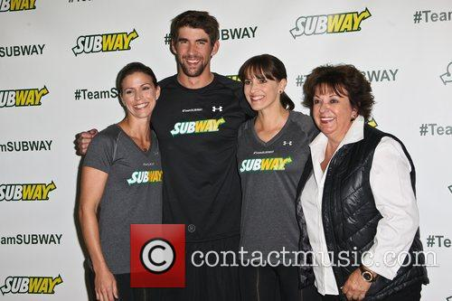 Whitney, Michael, Hilary and Debbie Phelps Subway 'run...