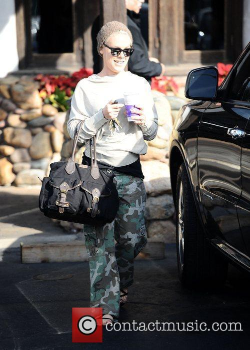 Pink, real name Alecia Moore, grabbing coffee in...