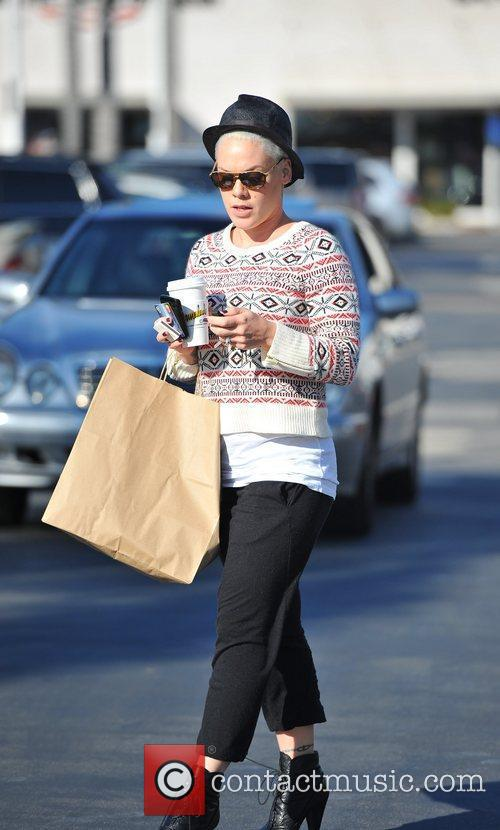 Pink (real name Alecia Moore) out shopping in...