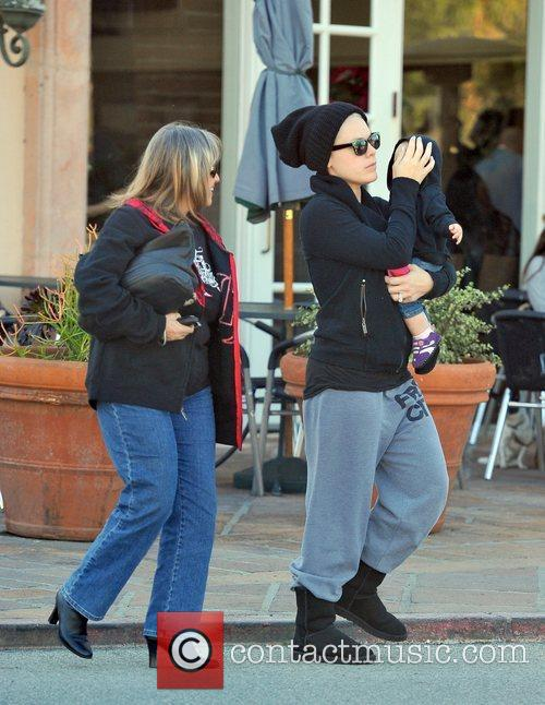 Pink (real name Alecia Moore) out with family...