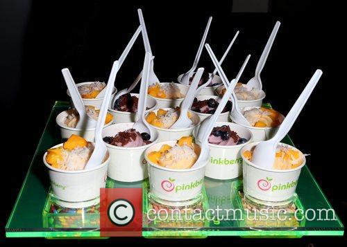 Pinkberry Las Vegas grand opening celebration at the...