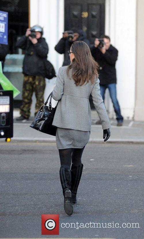 Pippa Middleton arriving for work in West London...
