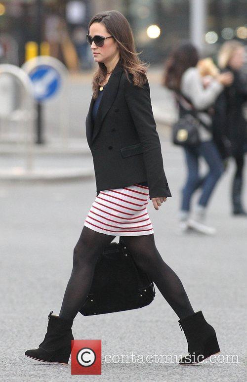 Pippa Middleton arrives for work London, England