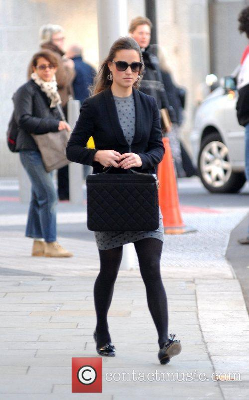 Pippa Middleton arriving at work in West London...