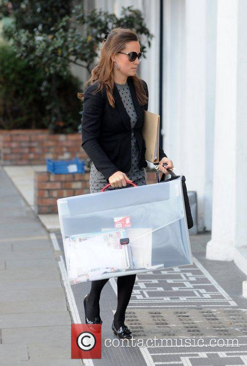 Arriving at work in West London