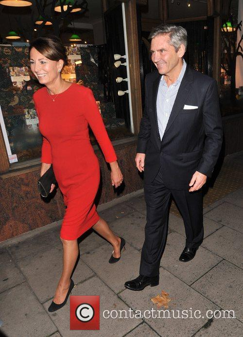 Carole Middleton and Michael Middleton  leave Daunt...