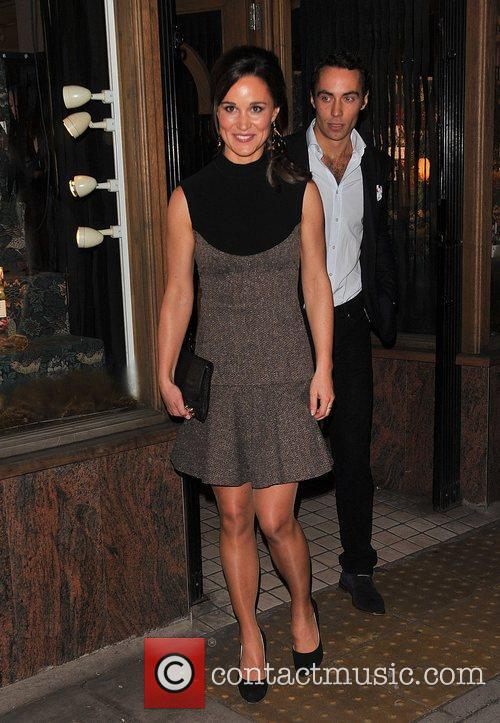 Pippa Middleton and James Middleton leaving Daunt Books...