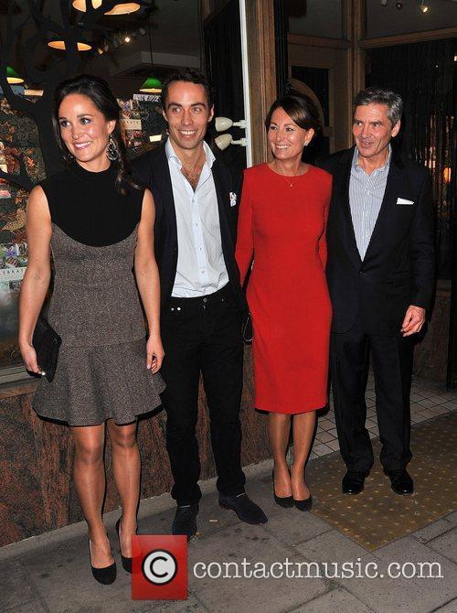 Pippa Middleton, James Middleton, Carole Middleton and Michael Middleton 2