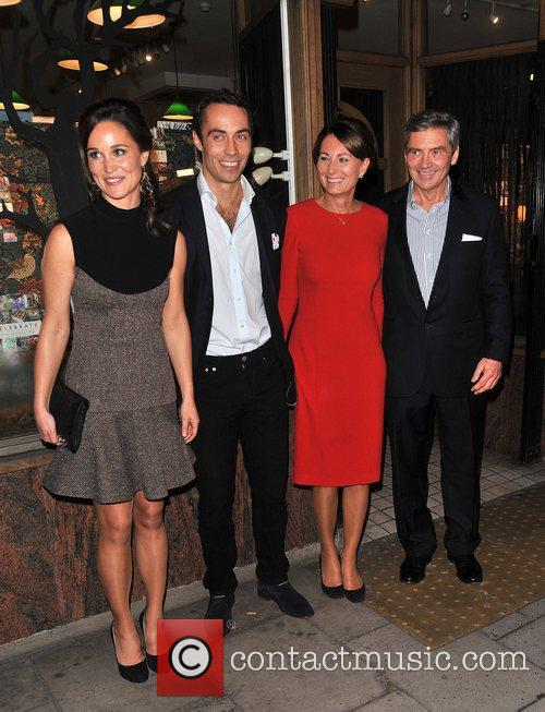 Pippa Middleton, James Middleton, Carole Middleton and Michael Middleton 1