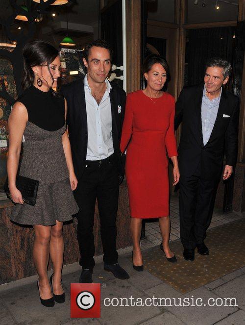 Pippa Middleton, James Middleton, Carole Middleton and Michael Middleton 4