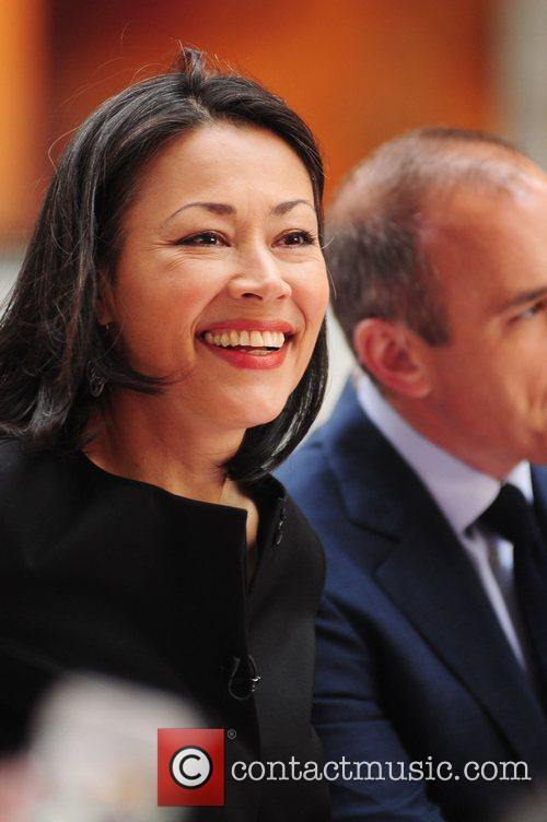 Ann Curry performing live at the Rockefeller Center...
