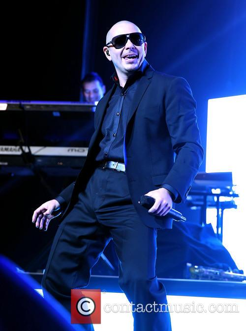 Pitbull performs at The Pearl inside the Palms...