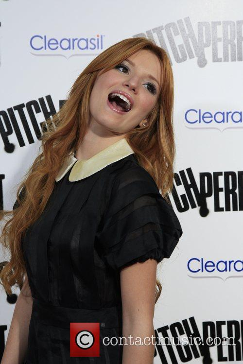Bella Thorne Los Angeles premiere of 'Pitch Perfect'...