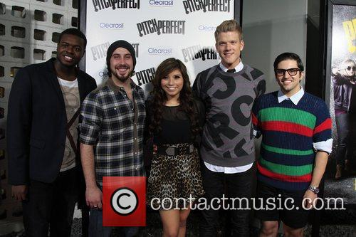 Pentatonix Los Angeles premiere of 'Pitch Perfect' at...