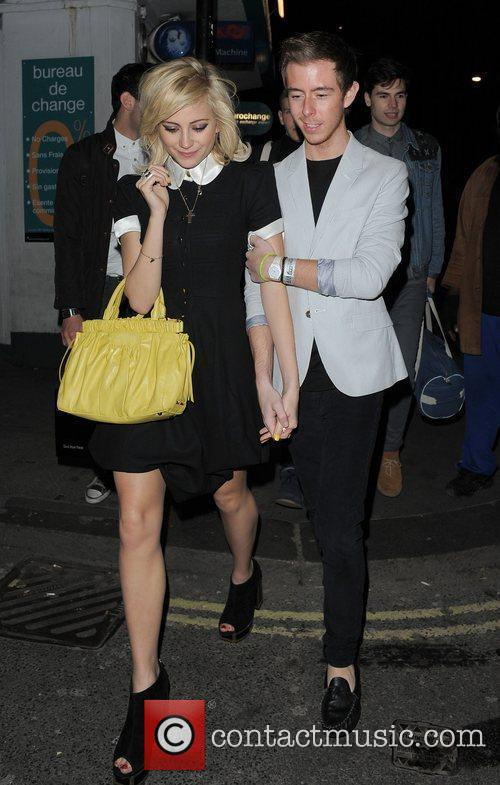 Pixie Lott leaving a private party with friends...