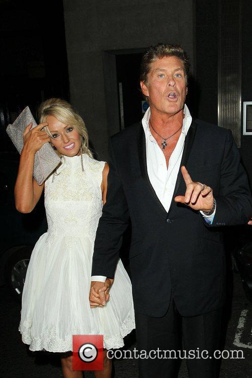 David Hasselhoff and girlfriend Hayley Roberts 'Keith Lemon...