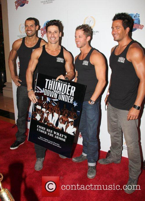 Thunder from Down Under performers Planet Hollywood restaurant...