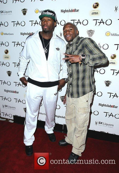 50 Cent, Floyd Mayweather Jr. and Tao Nightclub 2
